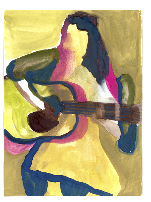 watercolor of MLE performance by Jessica Lindeman