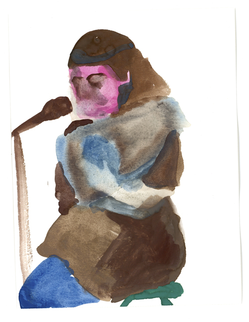 watercolor of performance by Jessica Lindeman